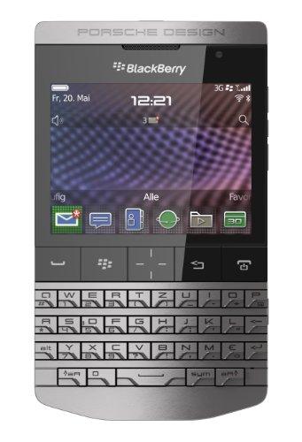 Porsche Design P'9981 Smartphone von BlackBerry (7,1 cm (2,8 Zoll) Touchscreen, 5 Megapixel Kamera, QWERTZ-Tastatur) silber