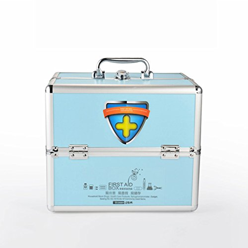 MMM Multi-usages Accueil Medicine Chest Grande boîte médicale First Aid Kit Aluminum Out Of The Box Drug Storage Box ( Couleur : Bleu )