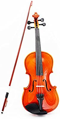 ammoon 4/4 Violín con Cuerdas de Acero Tilo Arbor Bow Instrumento de Cuerdas Juguete Musical para los Principiantes y Niños