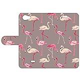 B2Ctelecom Housse pour Wiko Pulp Fab 4G Compartiments de Stockage Flamingo'S