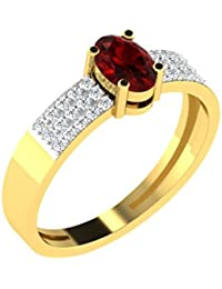 [Sponsored]His & Her 9KT Gold, Diamond And Ruby Ring For Women