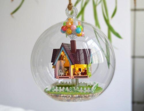 DIY Kit de casa de muñecas en miniatura de artesanía de bola de cris