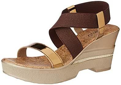 Inc.5 Women's Ant Gold Fashion Sandals-4 UK/India (37 EU) (51047)