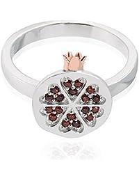 Clogau Women 925 Sterling Silver Garnet Ring - Size M 3SPMRR/M