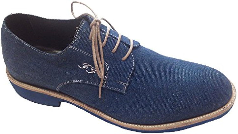 Garofalo Gianbattista Herren Schnürhalbschuhe Color Jeans