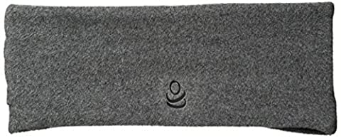 Cuddl Duds Women's Fleece and Flex Fit Ruched Headband, Charcoal, One Size