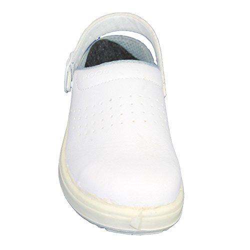 casteljaloux Group Chaussures de sécurité SBEA SRC Chaussures FO professionnelle aide-soignant Chaussures Sandales Blanc B de Marchandises Blanc - Blanc