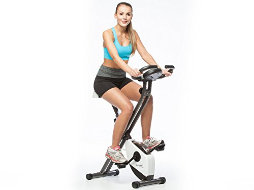 Skandika Foldaway Fitness Bike X1000 white