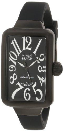 Glam Rock MBD27027 - Orologio da polso da donna, cinturino in caucciù colore nero