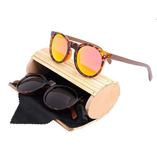 GSSTYJ Komfortable Universal Bambus und Holz Sonnenbrillen für Männer und Frauen als Geschenke für Freunde und Verwandte (Farbe : Tortoise red Flakes)