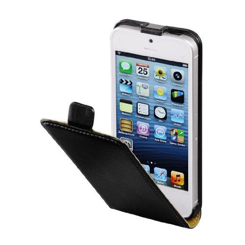 Hama Flip Case für Apple iPhone 5/5s/SE Tasche (Maßgefertigte Schutzhülle mit Magnetverschluss) schwarz (Iphone 5s Schwarz)