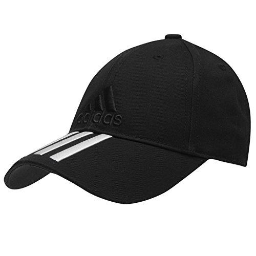adidas Noir Junior Réglable emblématique 3Bandes Brodée Casquette de Baseball à Rayures...