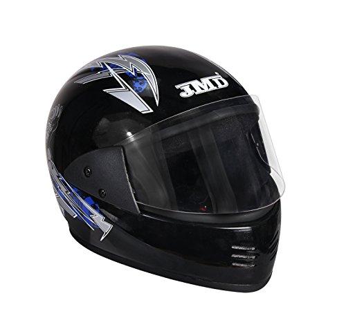 Jmd Helmets Full Face Black & Blue Graphic Helmet For Men,Black & Blue,(L) Size