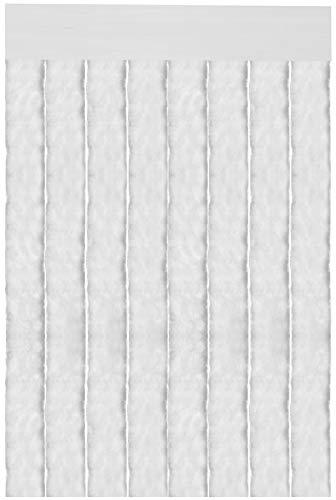 Flauschvorhang Insektenschutz Campingvorhang Moskitoschutz, Auswahl: Unistreifen weiß
