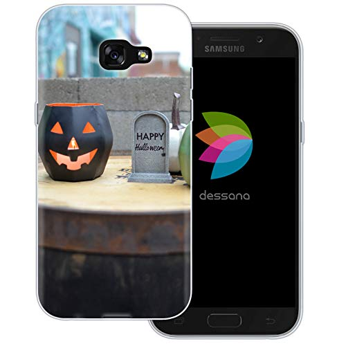 dessana Halloween Transparente Schutzhülle Handy Case Cover Tasche für Samsung Galaxy A5 (2017) Happy Halloween