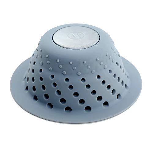 SlipX Solutions Graue Dichtung Enger Ablaufschutz passt über die Abläufe, um Verstopfungen vorzubeugen (entwickelt für Pop-Up-Drainagen, effektive Haarspalter, hochwertiges Silikon und Edelstahl). - Venturi Dichtung