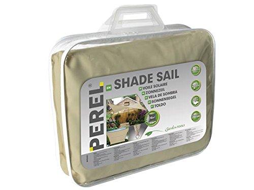 Perel GSS4360PE Voile Solaire, perméable à l'Eau, carré, 360 x 360 x 0,2 cm, Beige