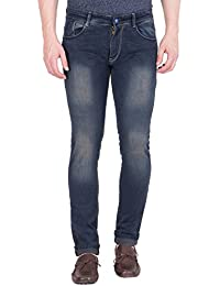 Spanish Men's Faded Blue Slim Fit Jeans