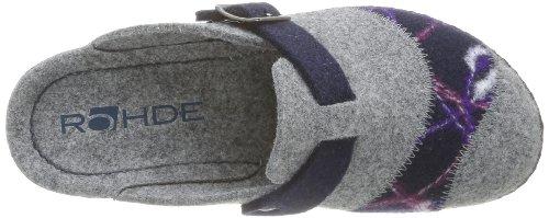 Rohde Neustadt-D, Pantofole donna grigio (Grau (grau/ocean 80))