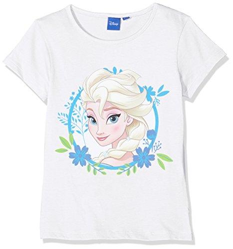 Disney frozen t-shirt bambina, bianco 110 (taglia produttore:5 anni)