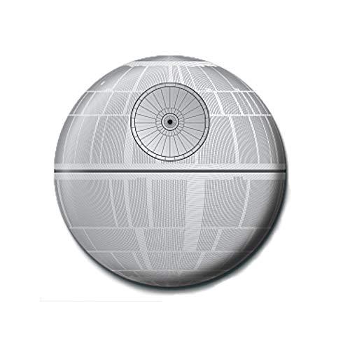 Pritties Accessories Echte Star Wars Death Star Button Abzeichen Pin Badge Retro Lucasfilm