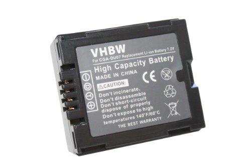 vhbw Li-Ion Akku 600mAh (7.2V) für Kamera Panasonic NV-GS10, NV-GS17, NV-GS21, NV-GS22,...