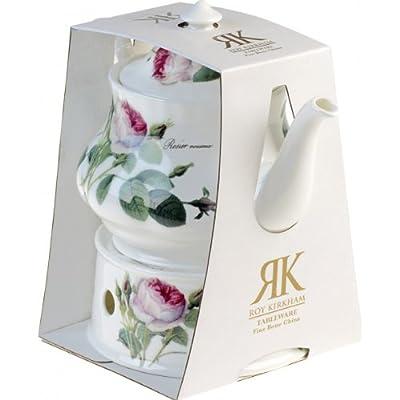 OLD Théière porcelaine Redoute Rose 1L - 6 tasses et son chauffe-théière en porcelaine