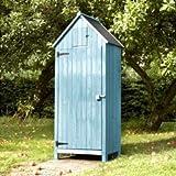 Brundle Online Garden Centre Gartenschuppen, Holz, Gerätehaus, Blau