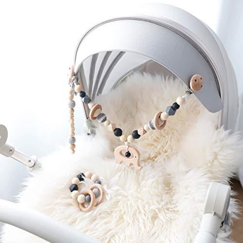 Mamimami Home 3PC Mobile-Kette Figuren zum Aufhängen an Kinderwagen,Babyschale oder Kinderbett schnullerketten zubehör baby armband veilchenwurzel baby zahnen