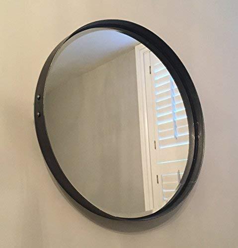 Steel Magnolias Rund Abgeschrägte Spiegel 55cm Durchmesser Zinn Farbe Ausführung