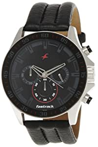 Fastrack Chrono Upgrade Analog Black Dial Men's Watch -NK3072SL06