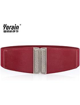 SILIU*Decoradas en plata La Sra. cinturilla ancha fajas falda elástica cinturilla ancha elástica con edredones...