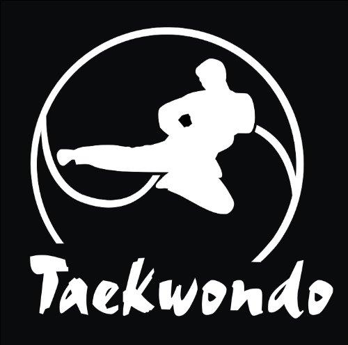 Taekwondo Brustprint T231 Unisex T-Shirt Textilfarbe: schwarz, Druckfarbe: neongrün