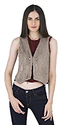 Kazo Womens Polyester Jacket (115663MNLIT--XL, Beige, X-Large)