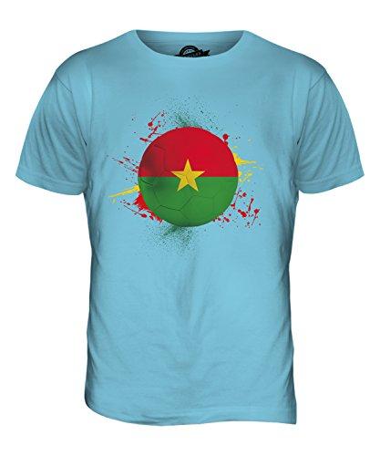 CandyMix Burkina Faso Calcio T-Shirt da Uomo Maglietta Azzurro Cielo