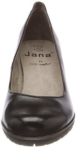 Jana Ladies 22403 Plateau Pumps Nero (nero Nappa)