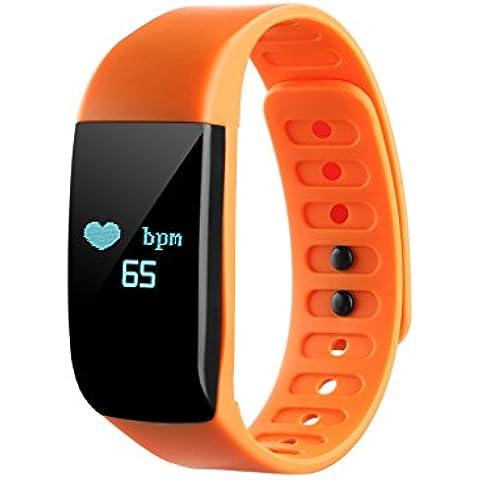 NONMON reloj del corazón del monitor del ritmo - Naranja