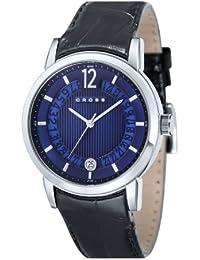Cross CR8006-03 - Reloj analógico para hombre, correa de cuero color negro