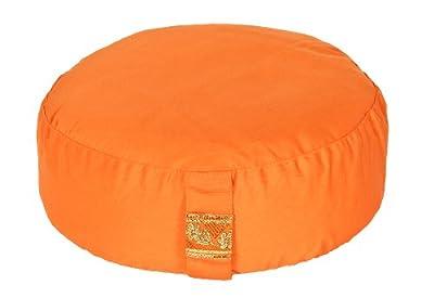 Meditationskissen Glückssitz Basic orange, Ø 33 cm x 15 cm, Bezug und Inlett 100% Baumwolle, Bezug und Inlett maschinenwaschbar bis 30º C