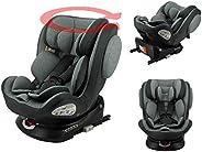 Silla de auto isofix ENO 360° grupo 0/1/2/3 (0-36 kg) con protección lateral, reductores de bebés, vuelta a la