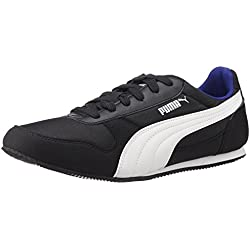 Puma Men's Superior DP Black, White and Surf The Web Sneakers - 8 UK/India (42 EU)