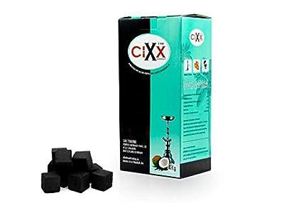 CIXX Aton 4kg Natur Premium Kokoskohle Shishakohle, Shihsa Kohle Kokosnusskohle Naturkohle, Rauchfrei, Geruchsneutral Brenndauer: bis 120 Minuten