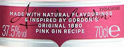 Gordon\'s Pink Gin Premium Distilled Gin Mit Erdbeergeschmack Und Himbeergeschmack (1 X 0.7 L)