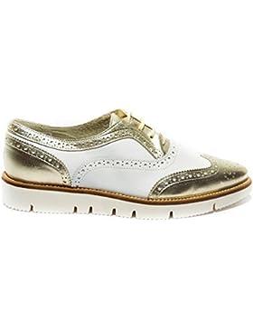 OVYE scarpa stringata donna coda di rondine bianco platino made in italy art.222