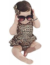 Covermason Bebé Niña Leopardo Impresión Mono