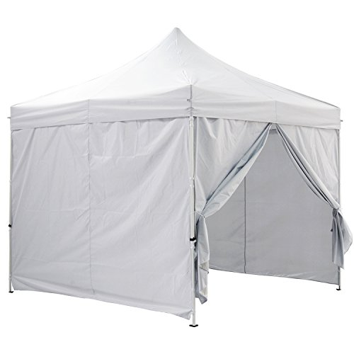 GREADEN - Tente pliante avec 4 murs amovibles 3x3m ECO - tube 25mm en acier - Bâche 420D - Barnum pliante - GR-1FLM (Blanc)