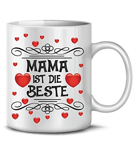 Golebros Mama ist die Beste Tasse Becher Valentinstag Geburtstagsgeschenke Muttertagstasse Muttertagsgeschenke Ideen Kinder ausgefallen Artikel Herz Liebe Oma
