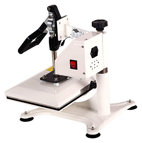 RICOO Transferpresse Power Zwerg-TW Druckfläche: 23x30cm Textildruckpresse Textilpresse Transfer Presse Thermopresse T-Shirtpresse Sublimationspresse geeignet für Flexfolie und Flockfolie || Shirt bedrucken günstig || Farbe: Verkehrsweiss - 5