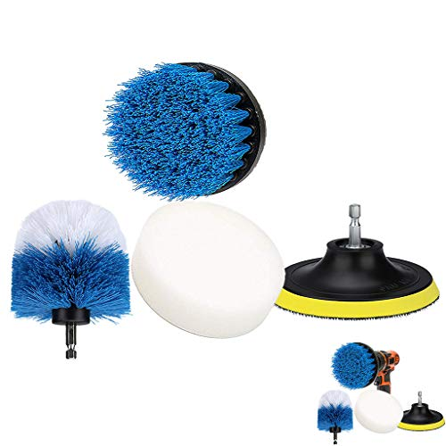 Mitlfuny -> Haus & Garten -> Küche,4 Stück Bürste Power Bohrer Reinigungsbürste Wannenreiniger Combo Tool Kit Perfekt für die Reinigung ()