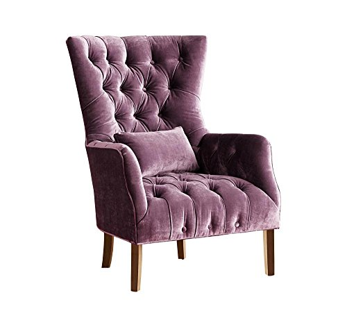 Afydecor Wingback Chair (Purple)